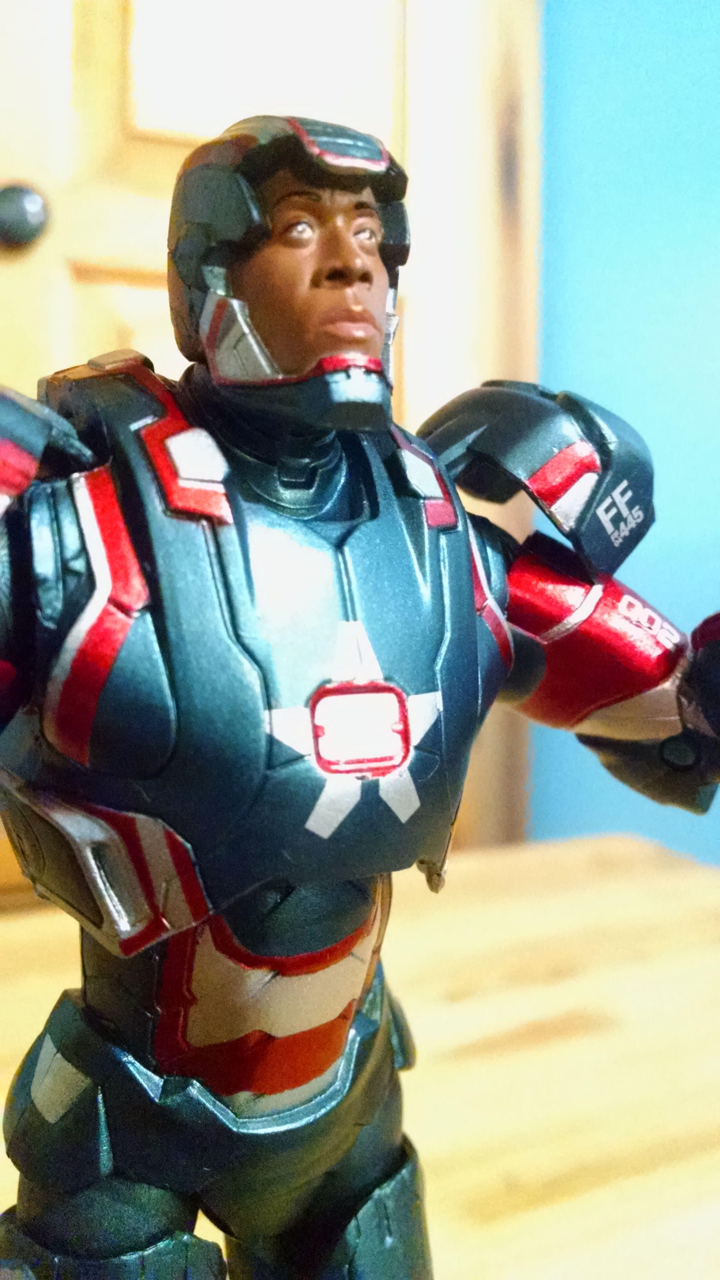 Iron Patriot Don Cheadle Diamond Select Marvel Action Figure Iron Man 2 Collectible Marvel Action Figures Iron Man Marvel