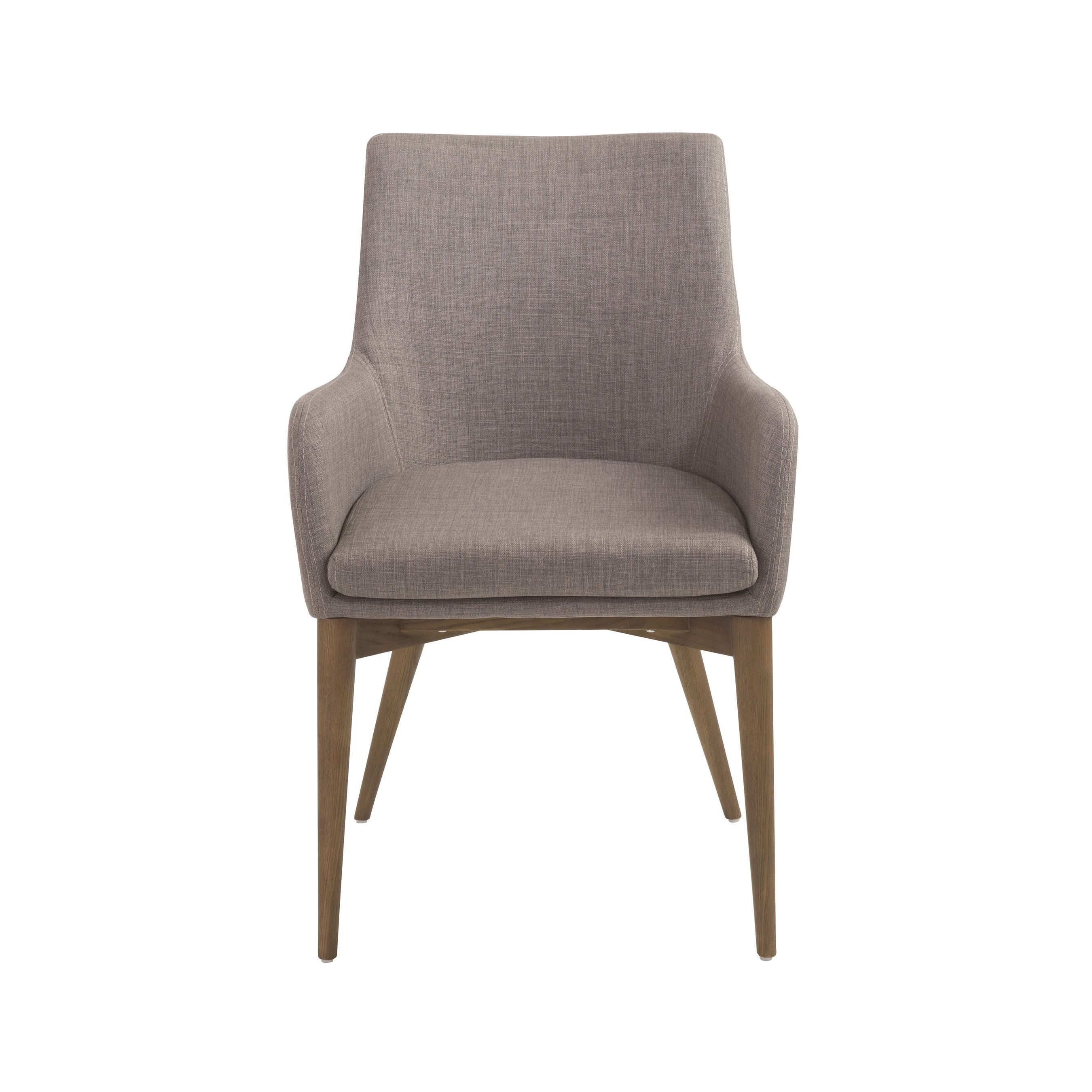 Enjoyable Calais Arm Chair In Dark Gray With Walnut Legs Set Of 2 Ncnpc Chair Design For Home Ncnpcorg
