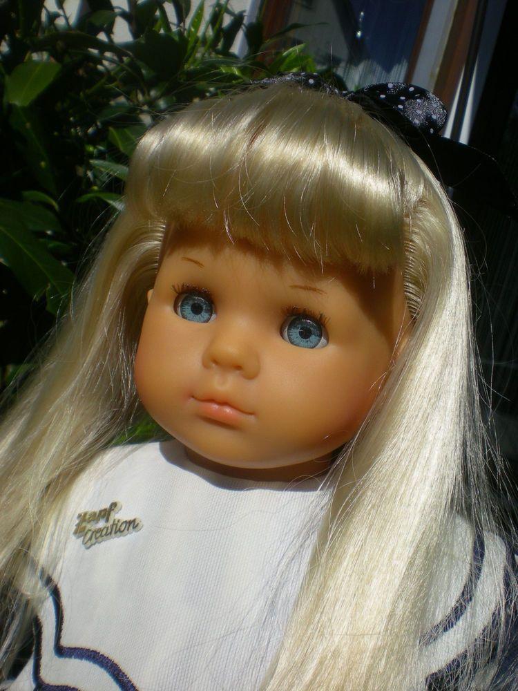 Zapf Puppe 50 cm blond 1986 Originalkleidung, unbespielt