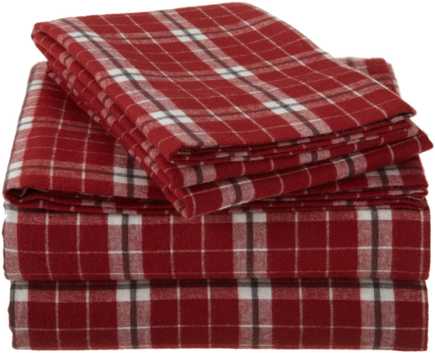 Bed Bath And Beyond Flannel Sheets Classy Amazon  Pinzon Lightweight Cotton Flannel Sheet Set  Queen
