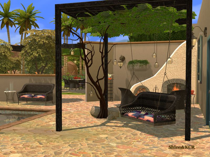 Wicker Furniture Set For The Garden Or Terrasse Found In Tsr Category 39 Sims 4 Downloads 39 Sims 4 Garden Wicker Furniture Outdoor