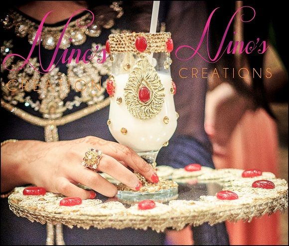 Pakistani Wedding Ideas: Pin By Nino's Creations On Doodh Pilayi Glasses In 2019