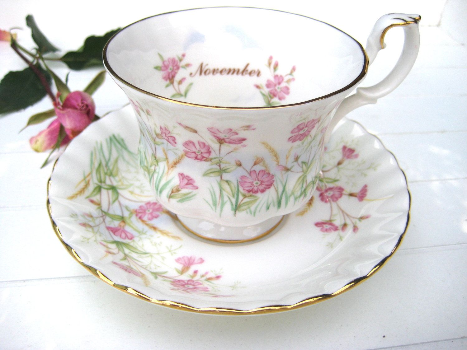 Royal Albert Wild Flower of the Month Cup and Saucer