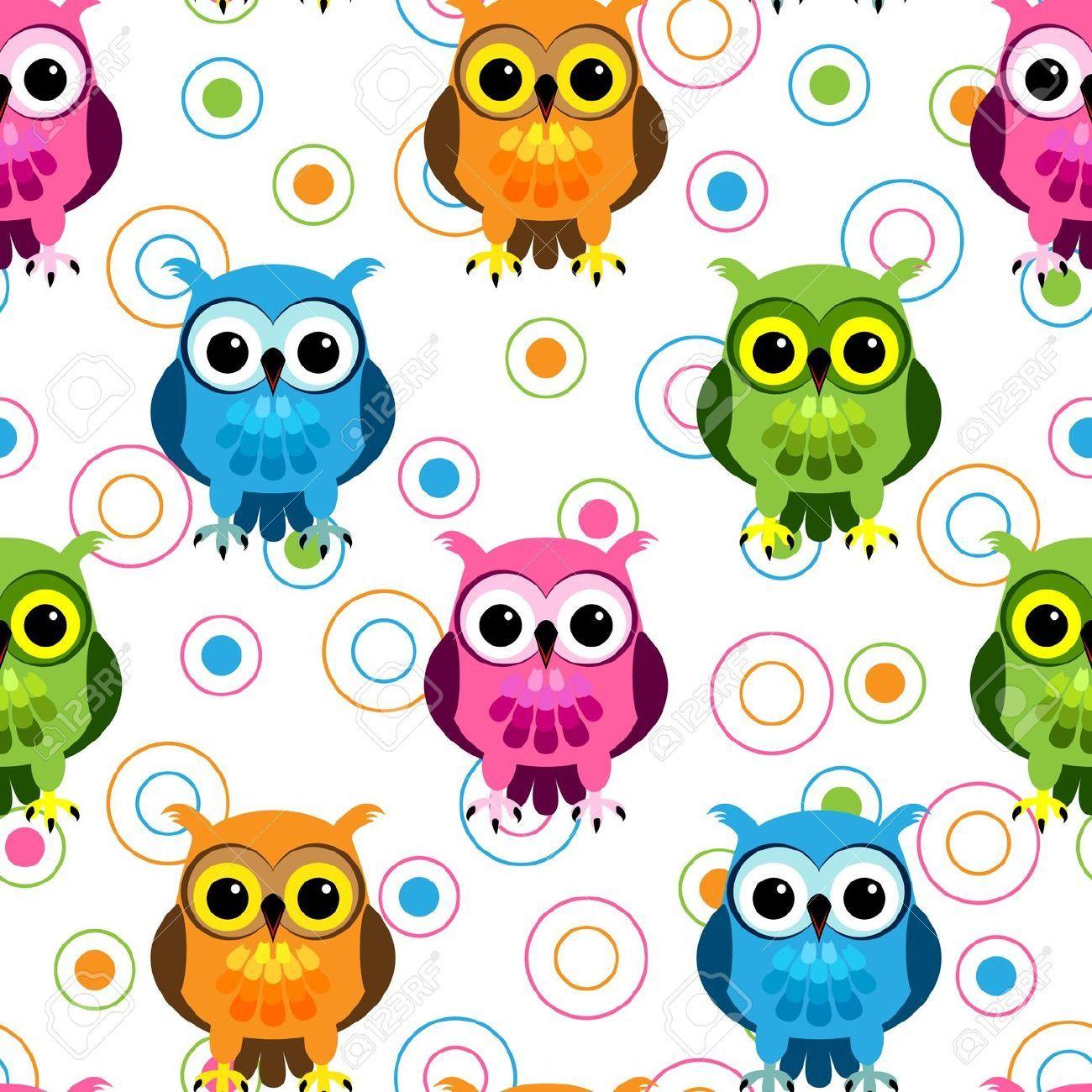 Coruja azul azul colorido bonito da coruja bonito colorido owls for my bedroom seamless owl pattern voltagebd Gallery