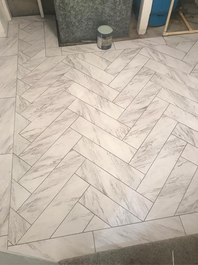 Trafficmaster Carrara Marble 12 In X 24 In Peel And Stick Vinyl Tile 20 Sq Ft Case Ss1212 In 2020 With Images Vinyl Tile Bathroom Vinyl Tile Tile Bathroom