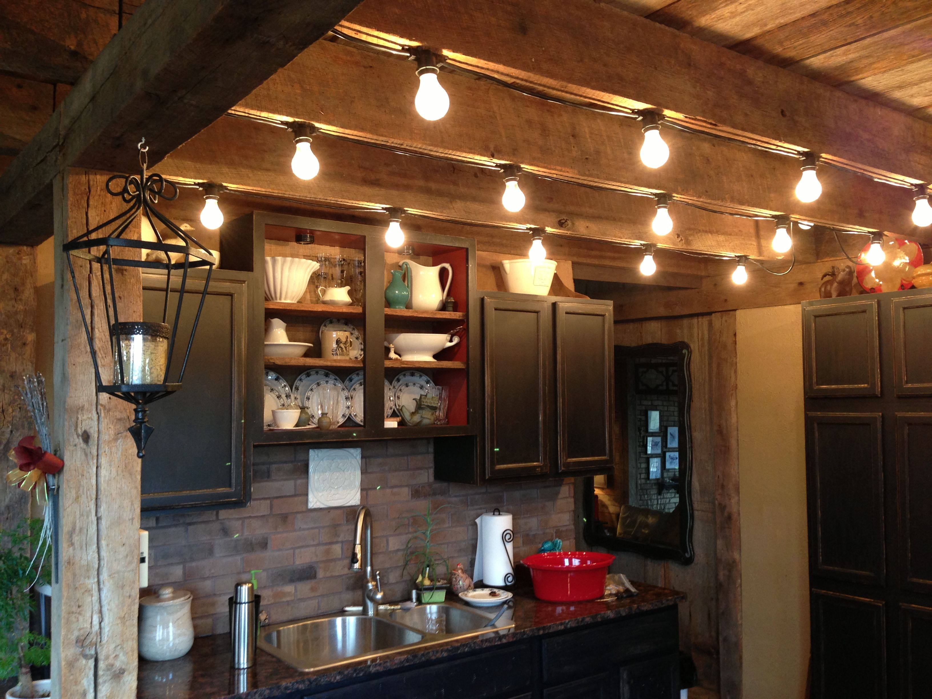 Kitchen Lights For A Mountain Cabin Kitchen Lighting Rustic Track Lighting Track Lighting Kitchen