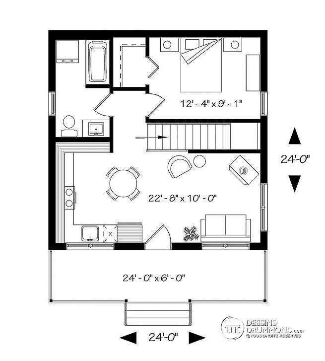 w1904 v1 chalet petit prix avec sous sol grand balcon. Black Bedroom Furniture Sets. Home Design Ideas