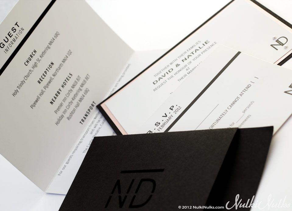 Modern And Elegant Wedding Invitations Stationery Suite