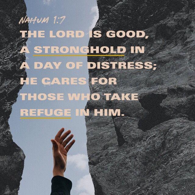 Nahum 17 NIV The lord is good, Bible apps, Nahum 1 7