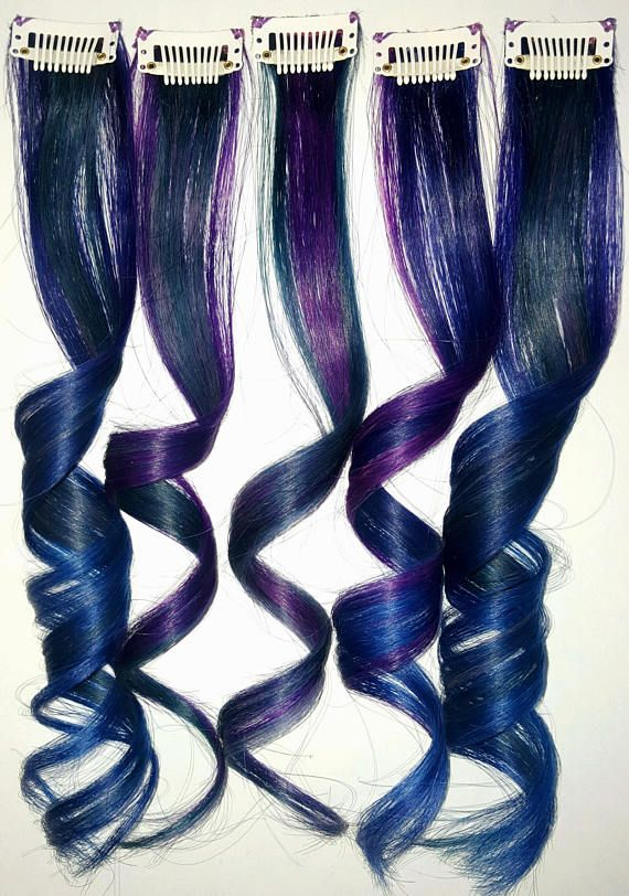 OIL SLICK GALAXY Mermaid Ombre Real Human Hair Extensions Clip In Extensions Festival Hair Weave Ariel Hair Extensions #humanhairextensions