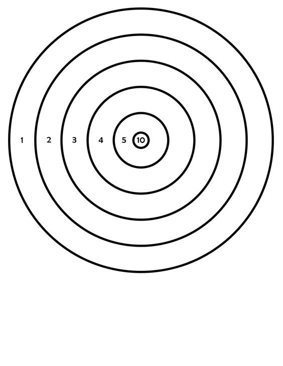 Black And White Archery Target Free Download Oasis Dl Co