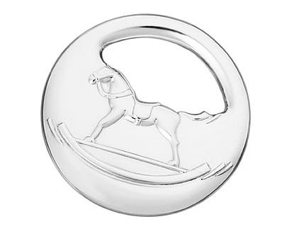 Rocking horse rattle in sterling silver by Hermes