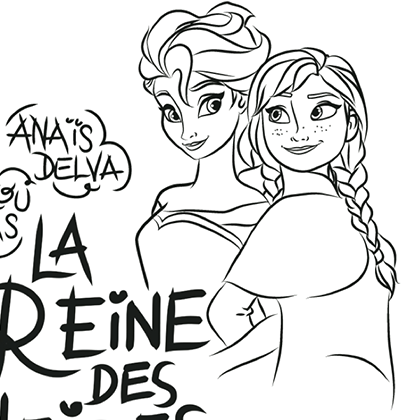 coloriage la reine des neiges we love disney 2