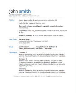 Resume Templates For Pages Simple Modern Resume Template For Pages  Modern Resume Template