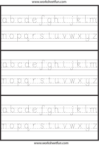 Small Letter Tracing – Lowercase – Worksheet – Hexagon   Printable ...