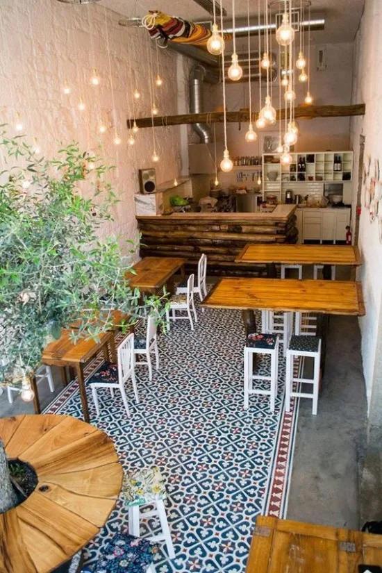 23 Desain Inspiratif Interior Warung Kopi Sederhana Restaurant Interior Design Interior Warung Kopi