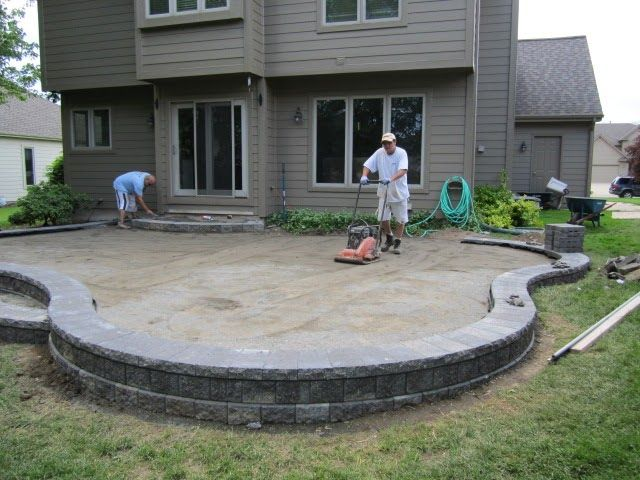 Raised Paver Patio Installing A Paver Patio Installing A