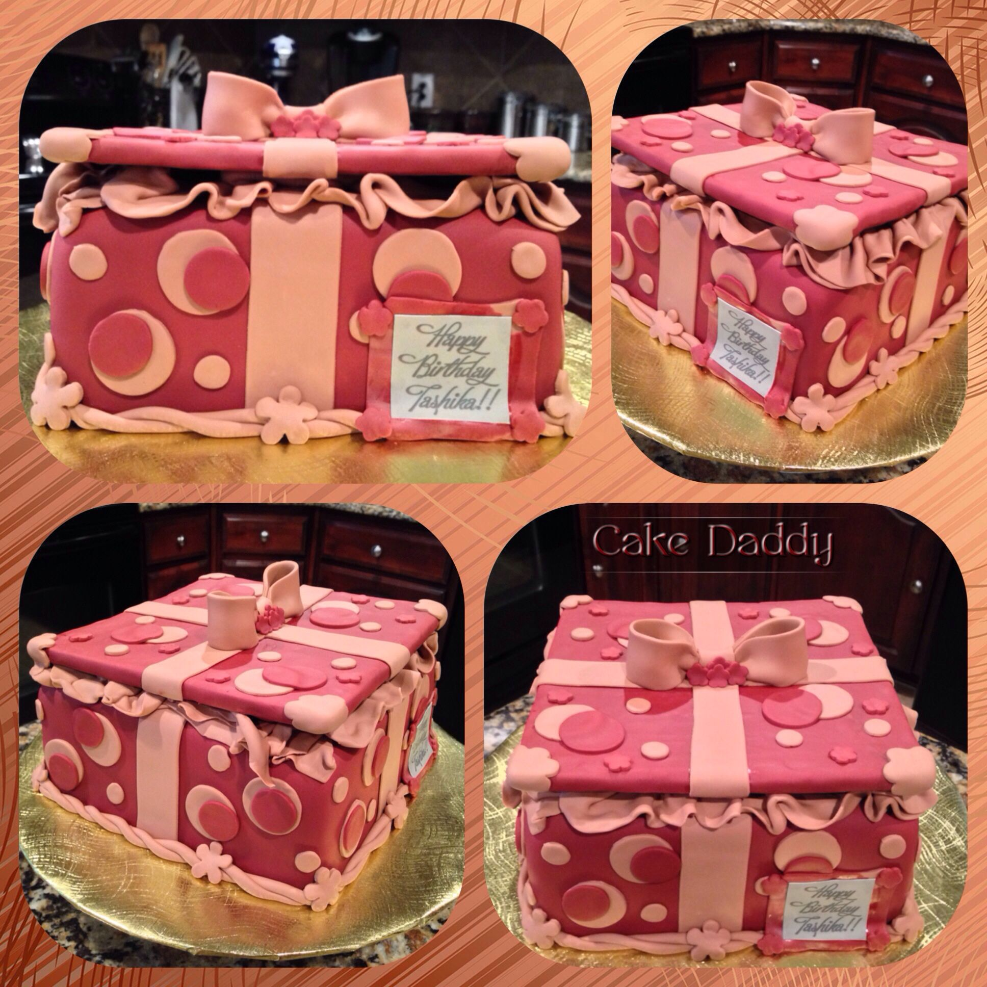 Gift box birthday cake  Custom Cakes by Cake Daddy  Pinterest