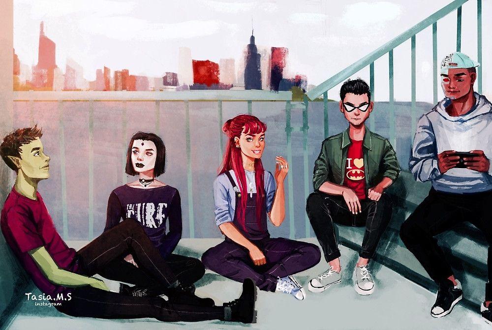 """Teen Titans"" by Tasia M S | Redbubble"