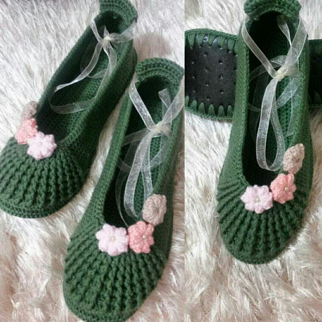 Pin von Eray Eray auf .slippers..örgü babetler.crochet.knitting ...