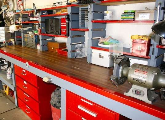7 Ways To Set Up Your Home Workshop Home Workshop Garage Workshop Organization Garage Workshop