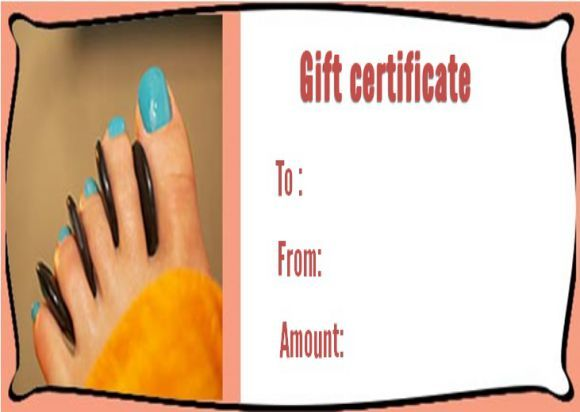 Free nail salon gift certificate template SPA Gift Certificate - gift certificates samples