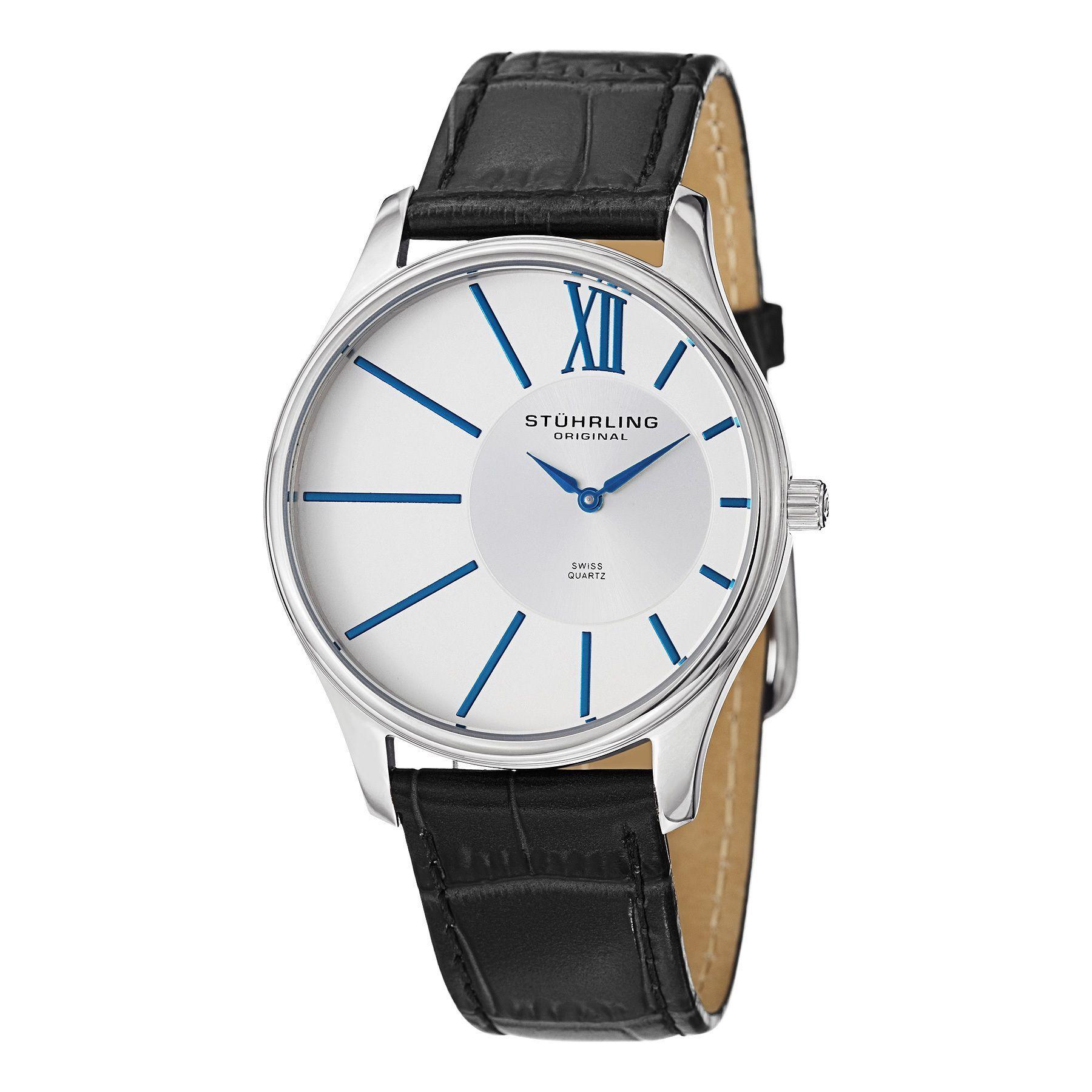 materiali di alta qualità grande vendita scegli l'ultima Stuhrling Original Men's Swiss Quartz Cuvette Strap Watch ...