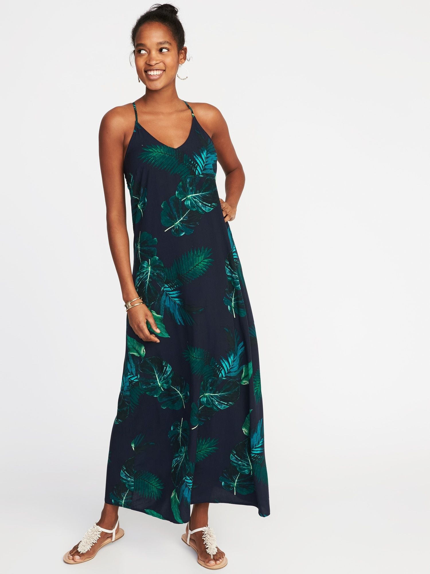 0d32a0a804a99 Sleeveless Floral Maxi Shift Dress for Women|old-navy | Wishlist ...