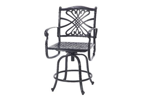 This Bella Vista Swivel Balcony Stool By Gensun Casual Is The Perfect  Accessory For Outdoor Terrace