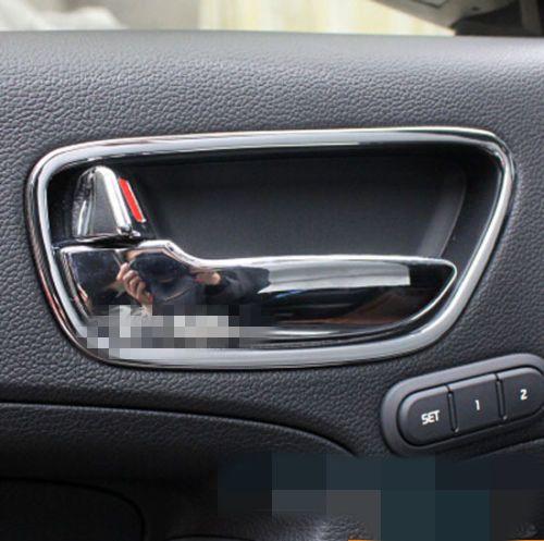 Fit For 14 Kia Forte Cerato Chrome Inside Door Handle Cover Trim Molding Interior Accessories Inside Doors Kia Forte