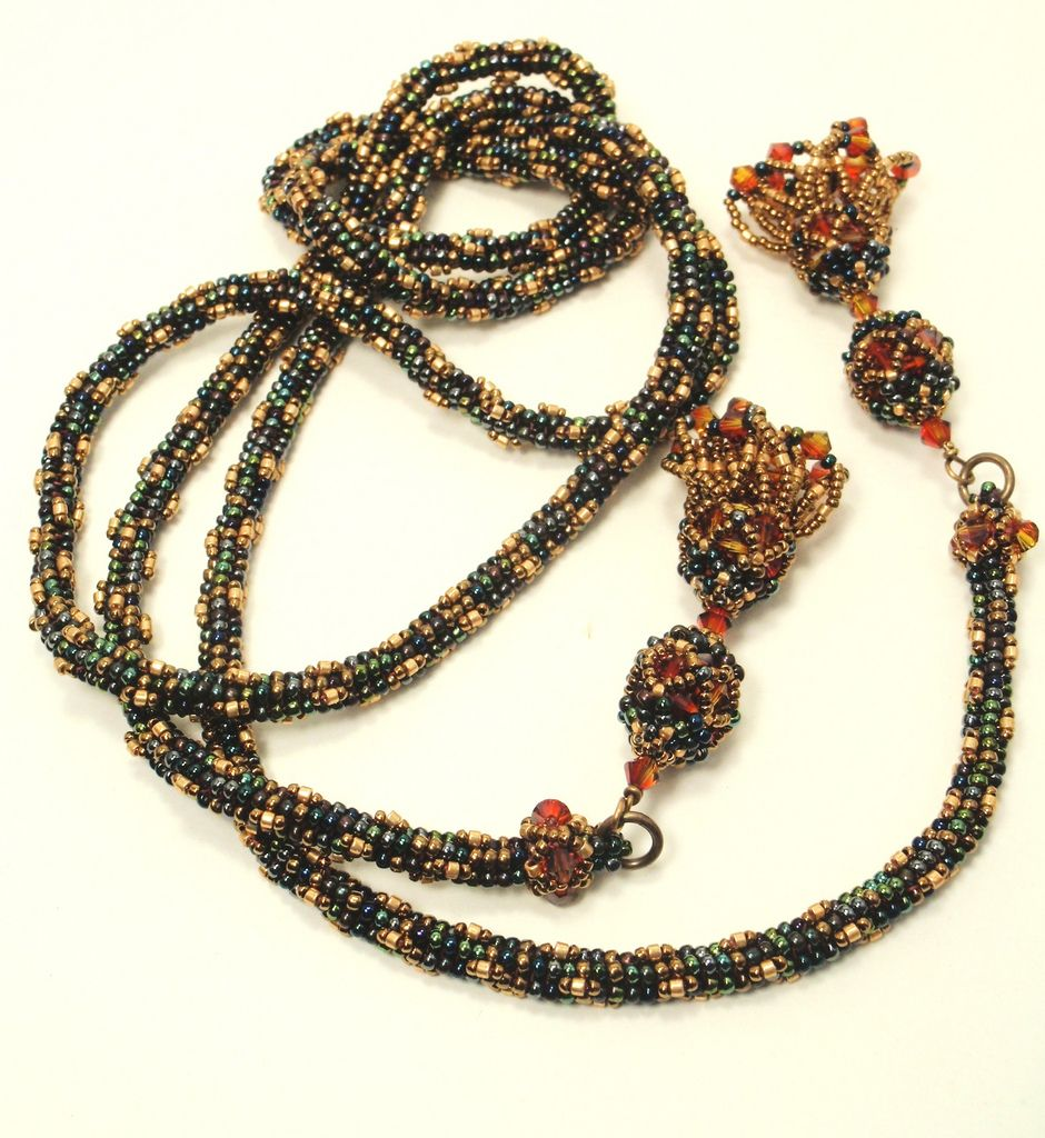 Bead and Tassel Lariat | Just finished instructions for this… | Flickr - Photo Sharing!