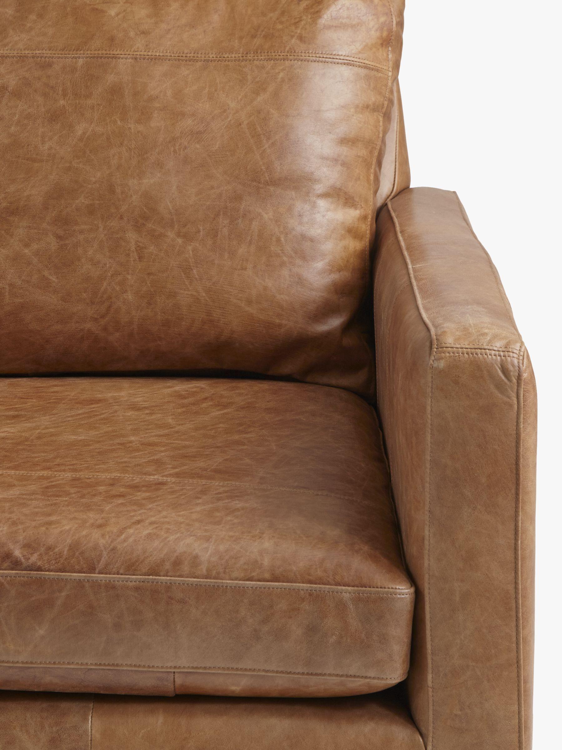 Medium 2 Seater Leather Sofa Dark