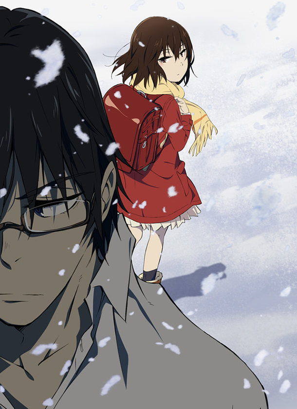 Fujinuma Hinazuki Satoru Erased Machi Boku Dake Inai Kayo Gaboku Dake Ga Inai Machi Erased Satoru Fujinuma Kayo Hi Anime Anime Serien Kawaii Kunst