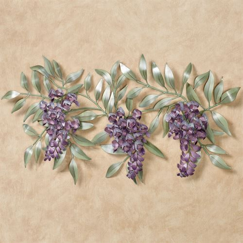 Wisteria Branch Metal Wall Sculpture Other Home Decor
