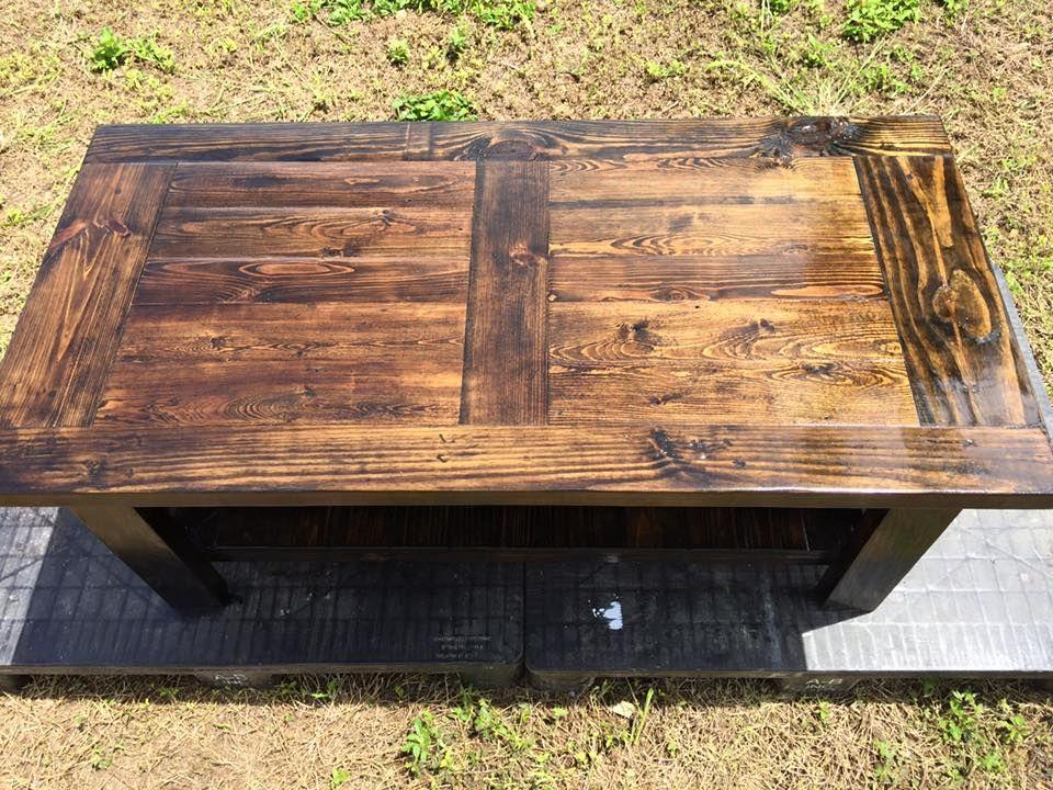 Repurposed Wooden Pallet Table deco Pinterest Mobilier