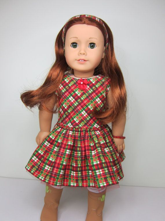 american girl plaid party dress for dolls - Google Search ...