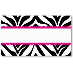 Pink and zebra templates free elegant zebra print custom place pink and zebra templates free elegant zebra print custom place cards business card templates reheart Gallery