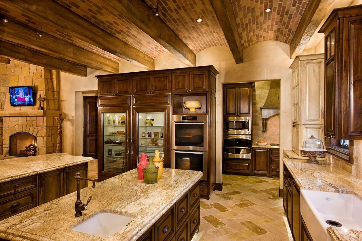 Best Kitchen Two Room Kitchen Glass Door Fridge Arched Brick 400 x 300
