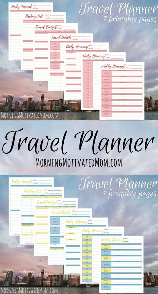 Travel Planner Printables Travel planner, Travel itinerary