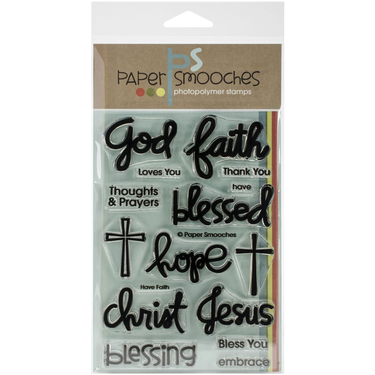"""Paper Smooches Clear Stamps 4""""""""X6"""""""" -Have Faith"""