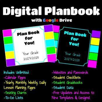 Digital or Printable Planner using Google Slides Black or White with