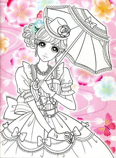 Korean Coloring Book - pink   BOYAMA JAPON   Pinterest   Páginas ...