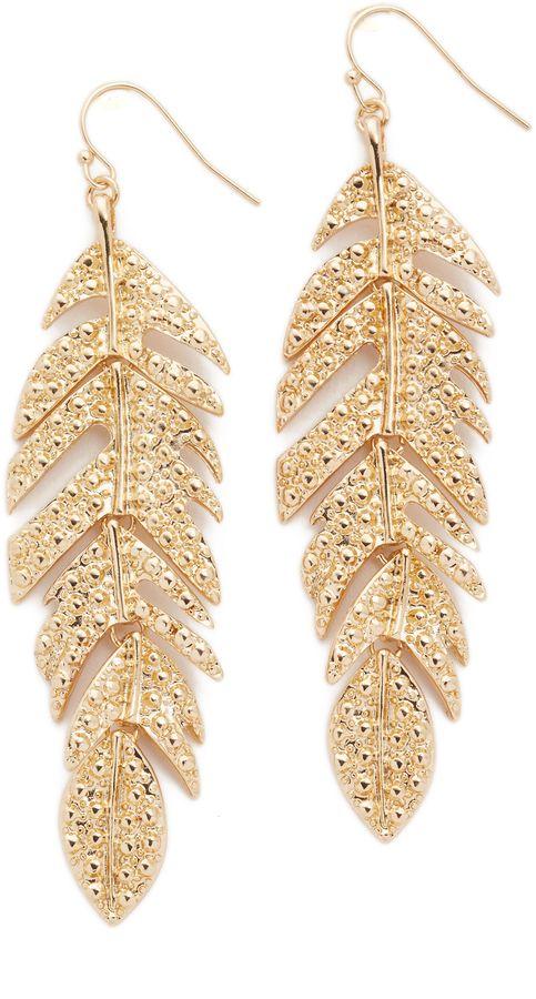 Adia Kibur Kylie Feather Earrings