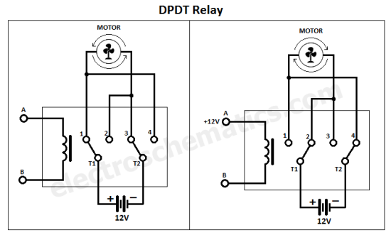Dpdt Relay Double Pole Double Throw In 2020 Relay Electronic Parts Basic Electrical Wiring
