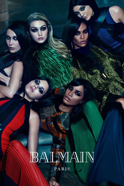 The Hadids, Jenners, and Smallses for Balmain. See the most talked-about ads of the year on BAZAAR: