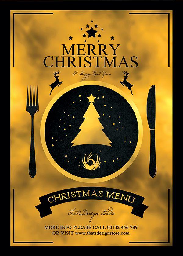 Christmas Eve Menu Template psd V3 Menu templates, Christmas - dinner flyer