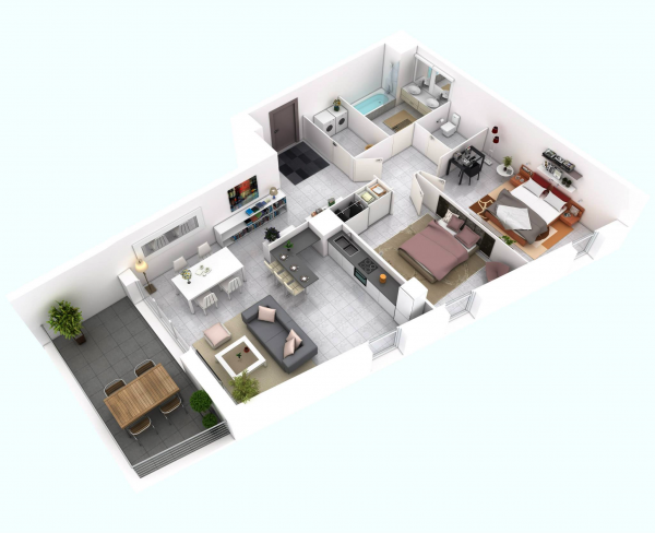 Awesome d floor plans for small or medium house plan one e c d bedroom apartmenthouse plans architecture design modern with large closet