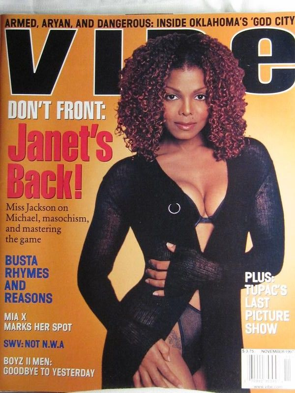 Vibe Magazine - November 1997 Issue - Janet Jackson ...