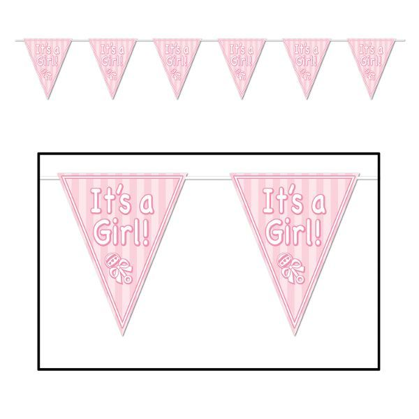 It's a Girl Pennant Banner 12ft