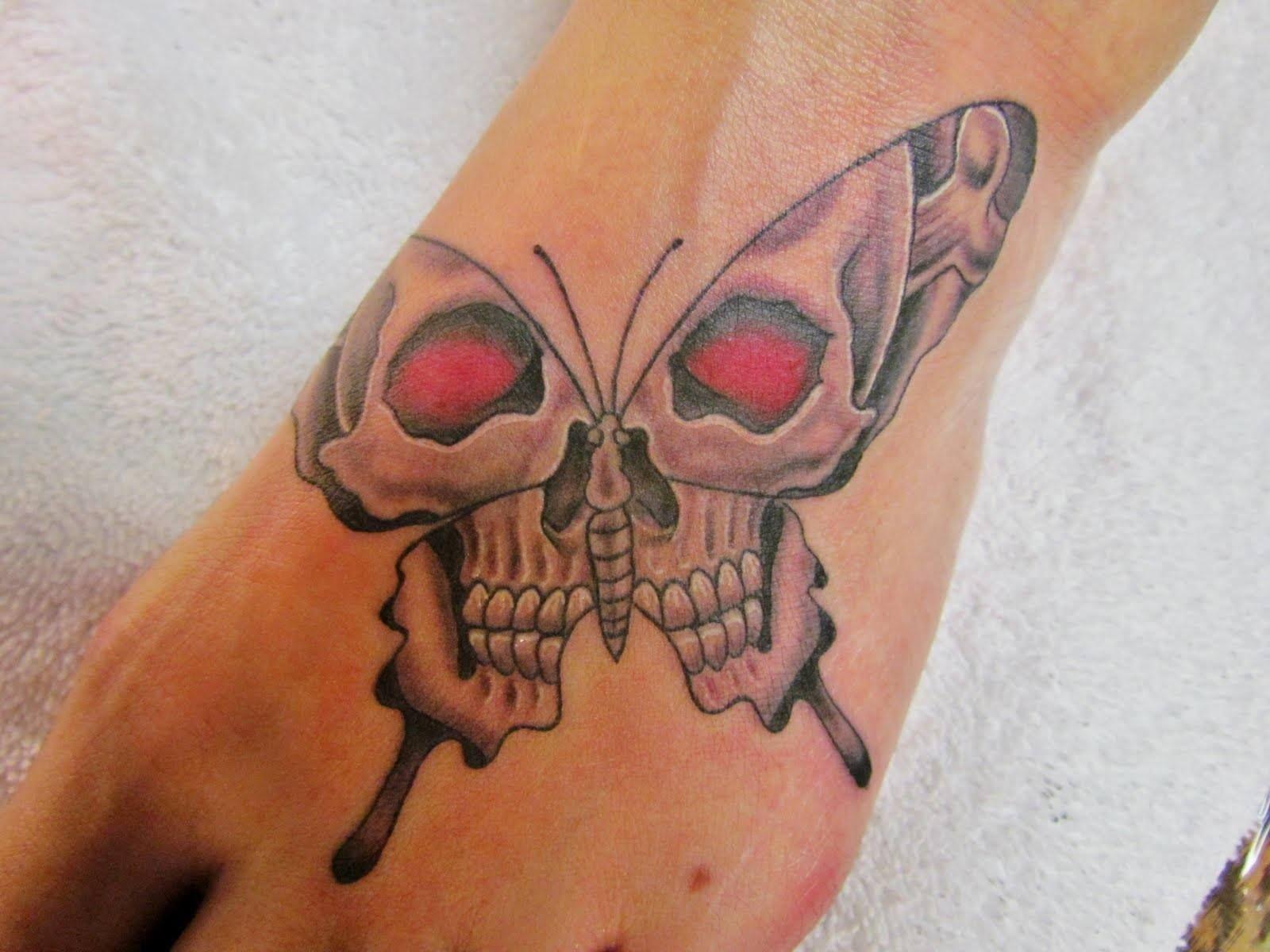 76 crazy skull tattoos designs tattoo designs tattoo and pocket rh pinterest ie Butterfly Skull and Crossbones Tattoo Skull and Cross Tattoo Designs